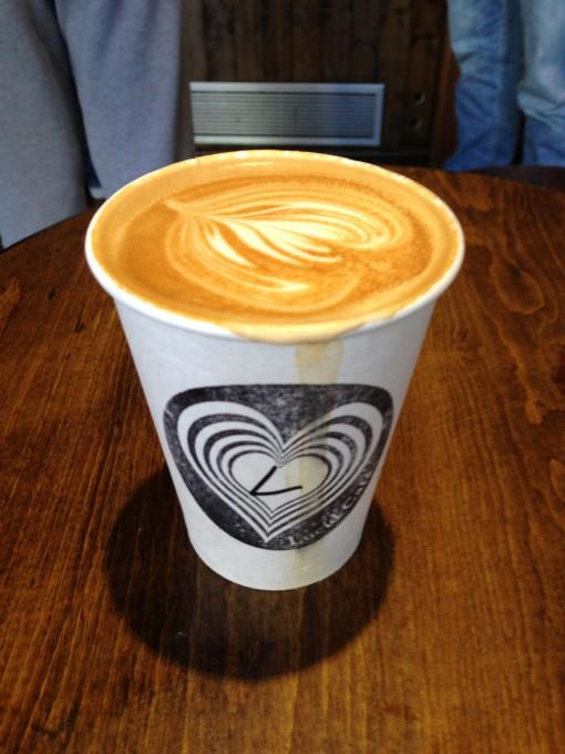Latte at Lucid Cafe