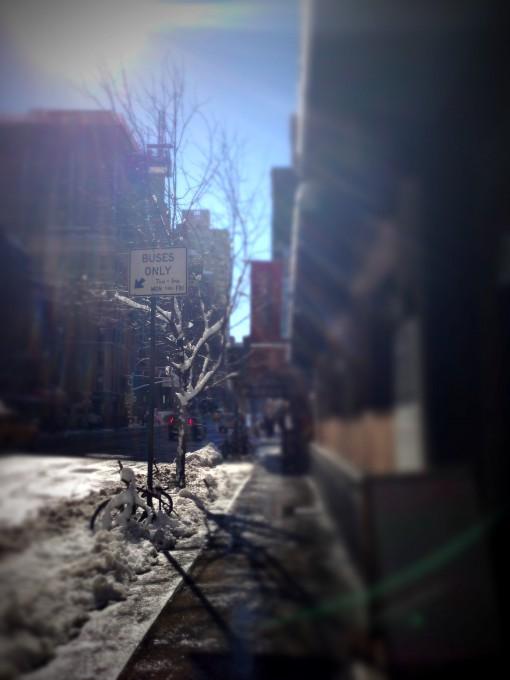 Lexington Avenue after the snowstorm