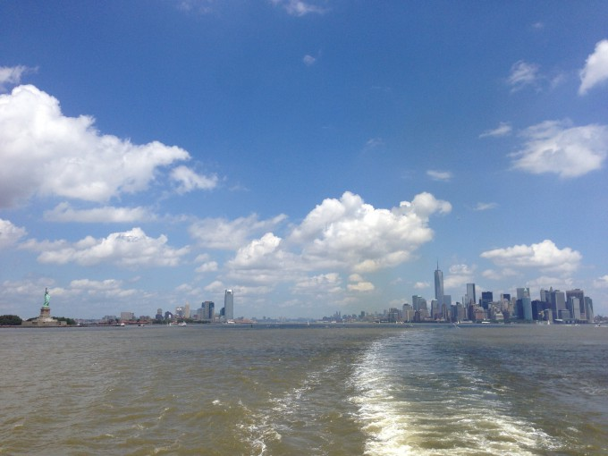 New York from a Ferry to Staten Island