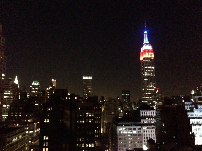 The Red, White, and Blue at the Empire State Building
