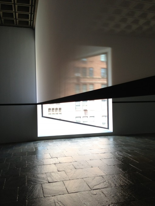 An Exhibit by Robert Irwin: Scrim Veil - Black Rectangle - Natural Light at the Whitney Museum (July 2013)