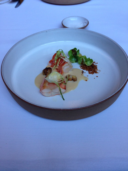 Lobster (Poached with Brussel Sprouts and Guanciale)